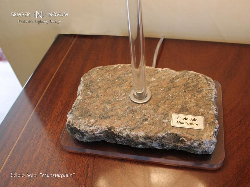Authentieke stenen lampvoet Scipio